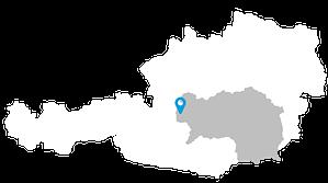 Lageskizze Ramsau am Dachstein in Österreich